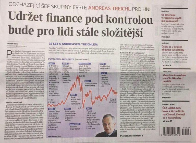 Přečtěte si o nás v Hospodářských novinách!